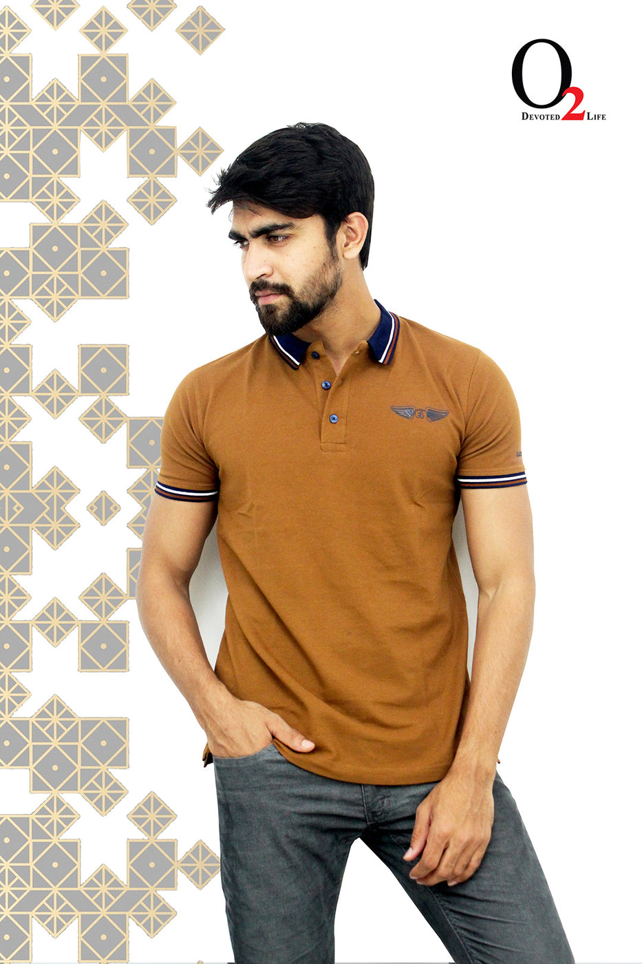 Ochre Gold Polo Shirt