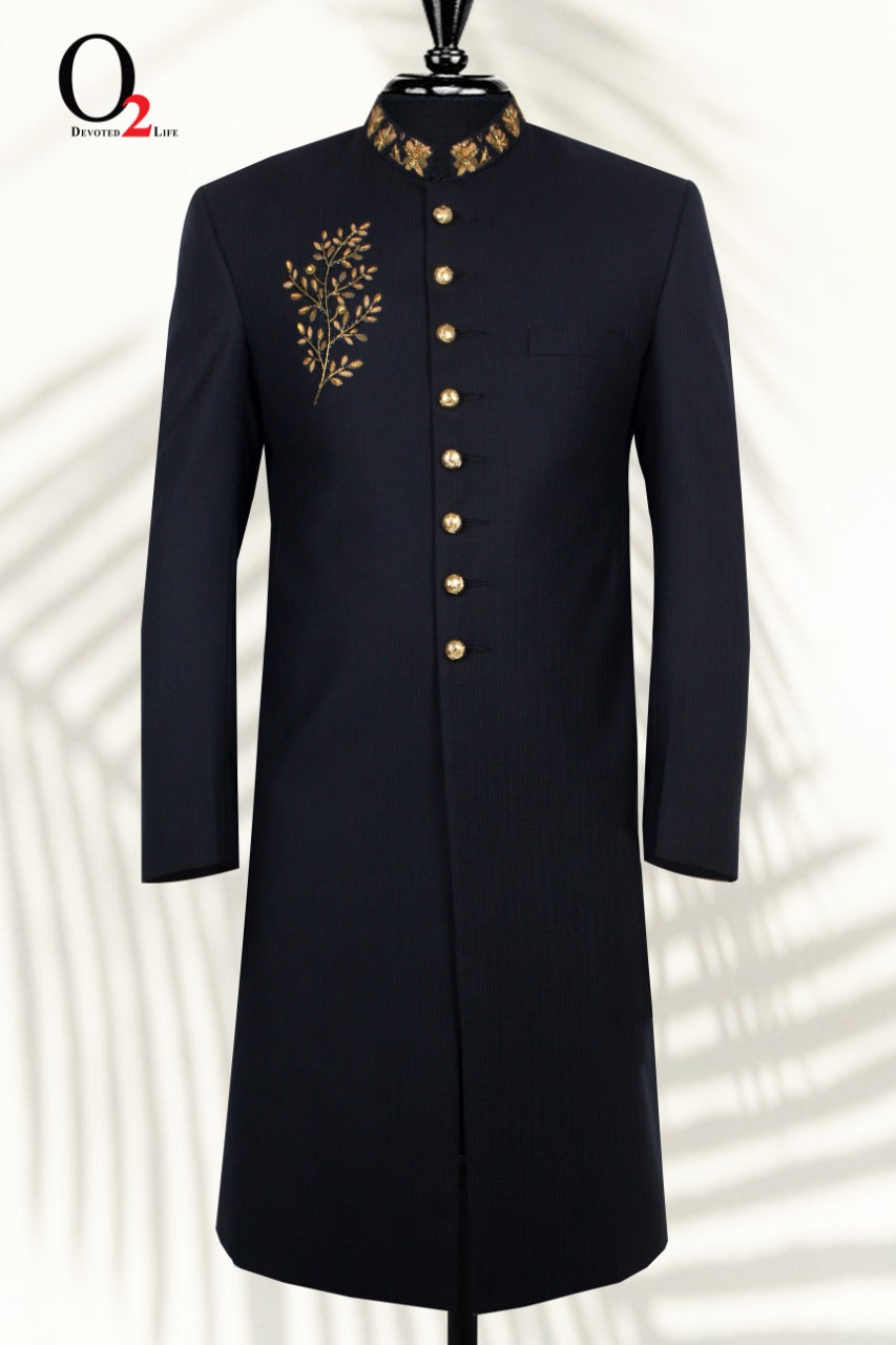 Handwork Sherwani in Black