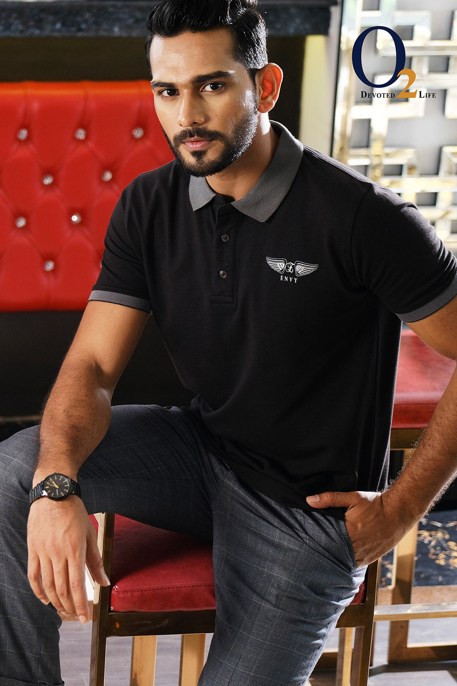 Black EXPO Polo Shirt