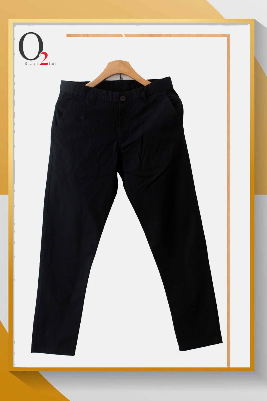 Black Navy Cotton Twill Pants