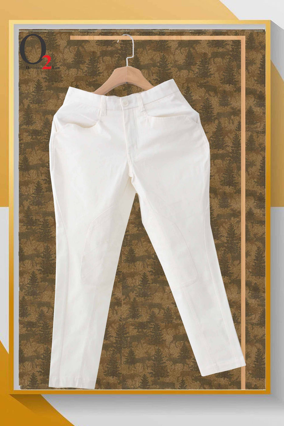 White Cotton Twill Pants