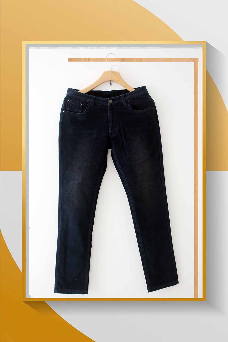 Navy Cotton Twill Pants