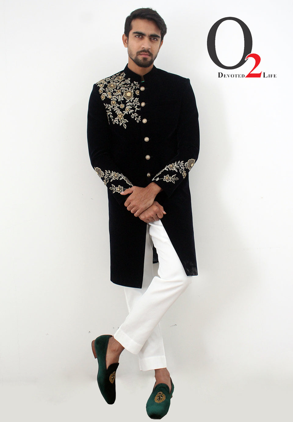 Royal Prince Suits Black Zardosi