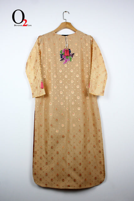 INDIAN ORGANZA LONG KURTI
