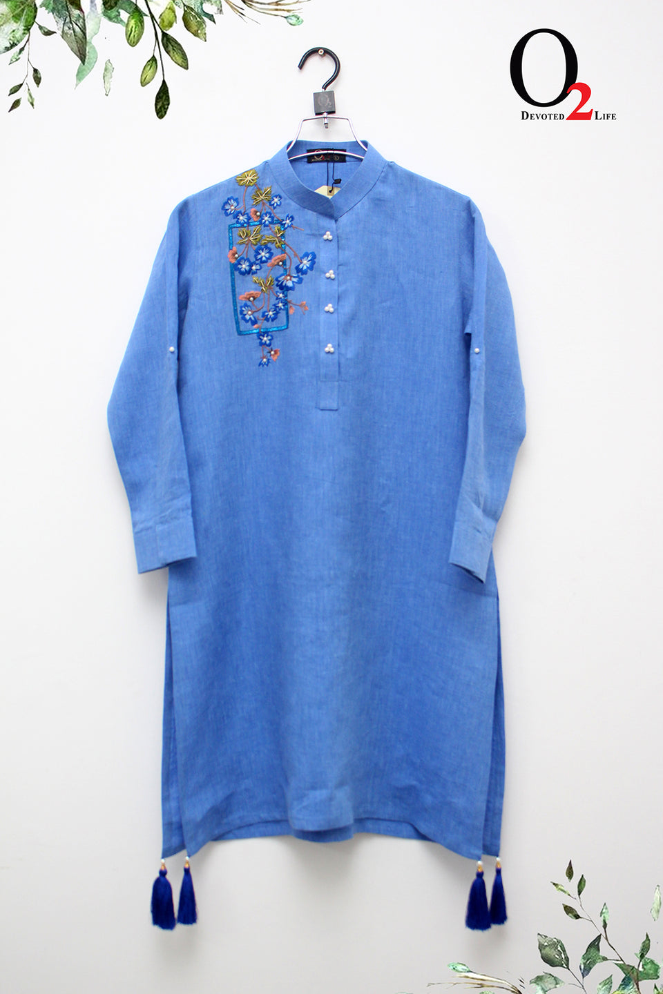 Blue Embro SUMMER KURTI