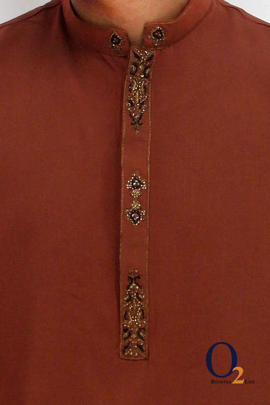Ochre Gold Long Panjabi