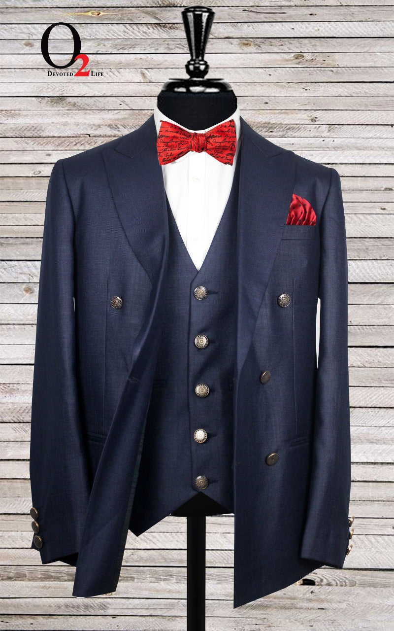 The Navy Double Breasted Blazer