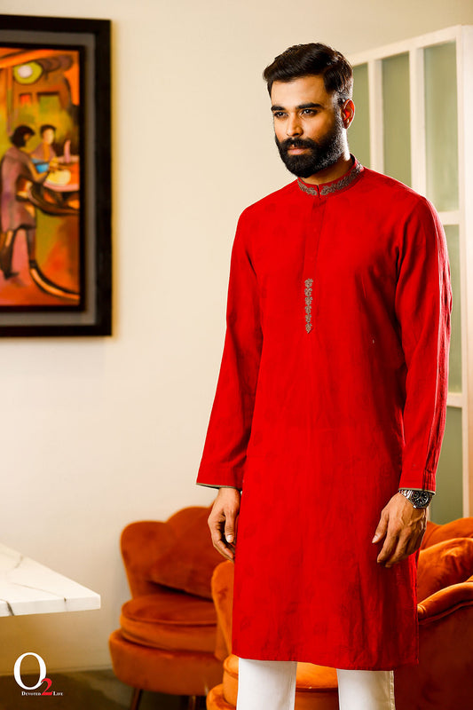 Red Men Classic Panjabi