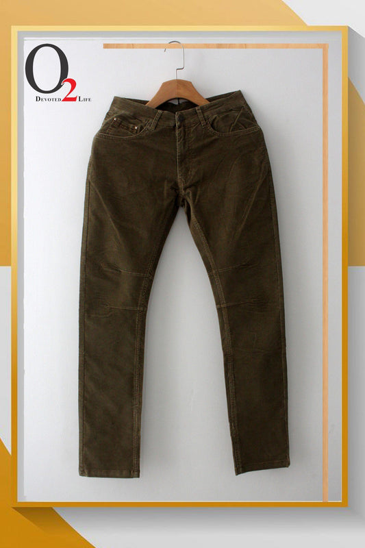 BEIGE COTTON TWILL PANTS