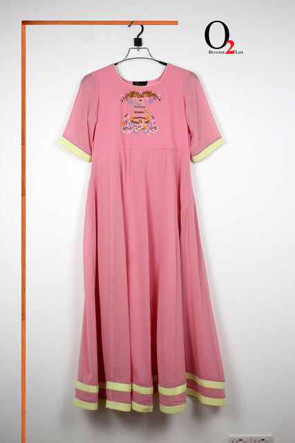 Pink Bird Long Gown
