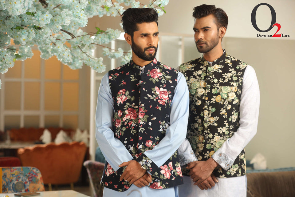 Men's Printed Nehru Jacket