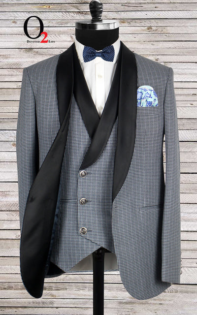 Diner Lapel Glen Check Suit