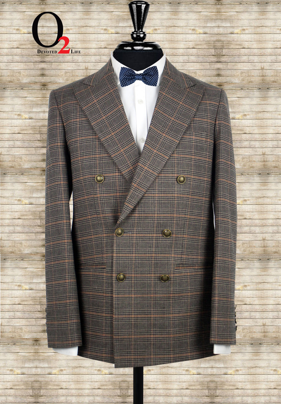 Men's Vintage 2 Piece Checkered Suit