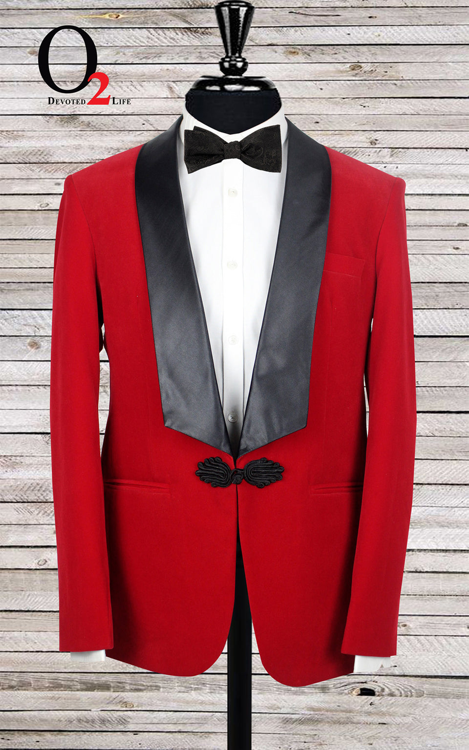 Red Tuxedo with Black Lapel