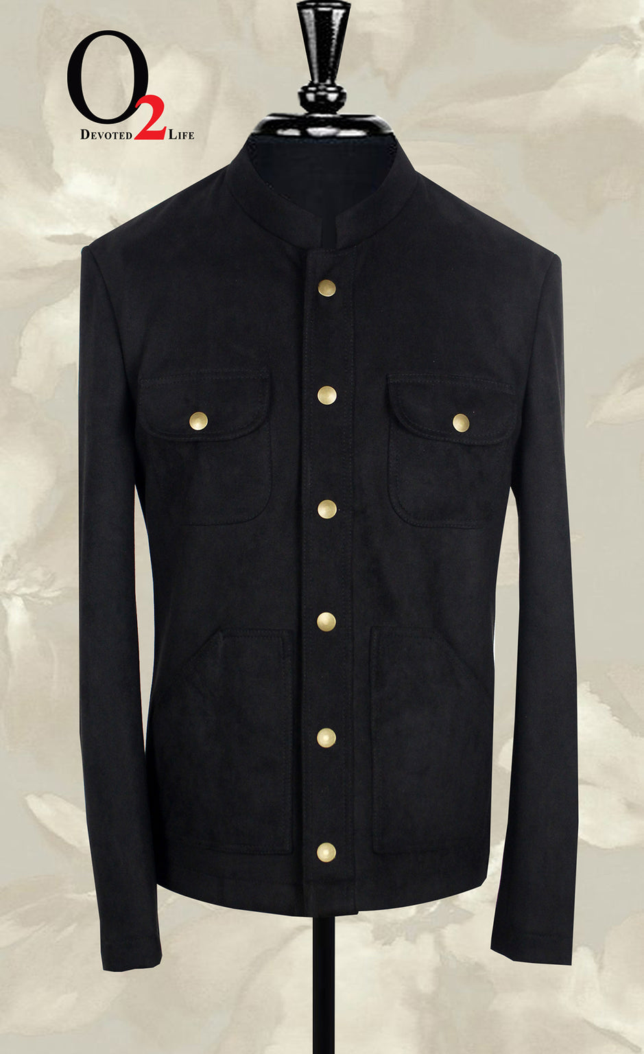 Black Tweed Nehru Coat