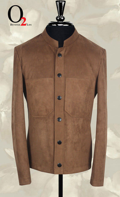 Brown Tweed Nehru Jacket