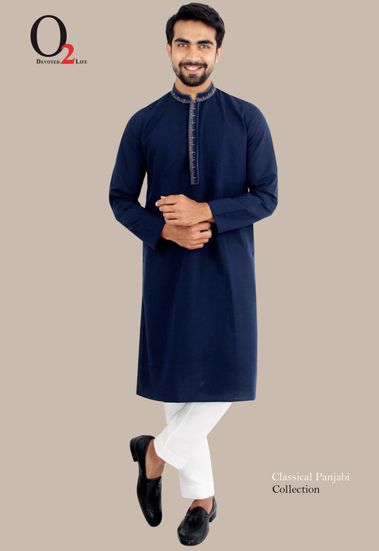 EMBRO BLUE LONG PANJABI