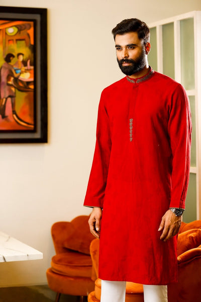 Red Long Panjabi