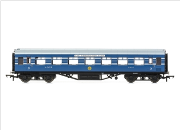 Hornby R4965A OO Stanier Period III 57' RTO D1981 8993 in LMS Coronation Scot blue