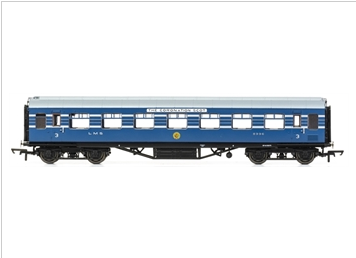 Hornby R4965B Stanier Period III 57' RTO D1981 8996 in LMS Coronation Scot blue