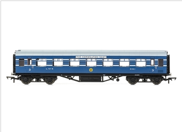 Hornby R4965 OO Stanier Period III 57' RTO D1981 8961 in LMS Coronation Scot blue