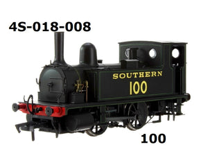 4S-018-008 B4 0-4-0T Southern Black Lined Green 100