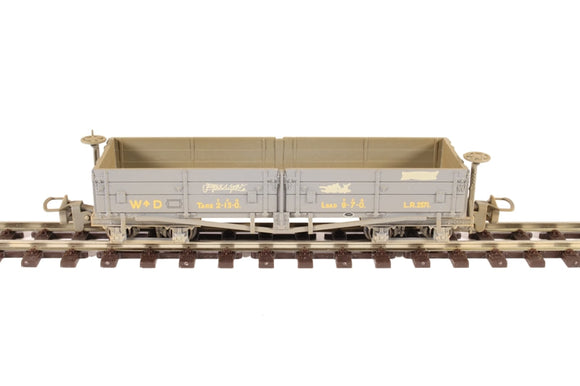 Bachmann 393-050 D Class Open Bogie Wagon WD Grey (Weathered)
