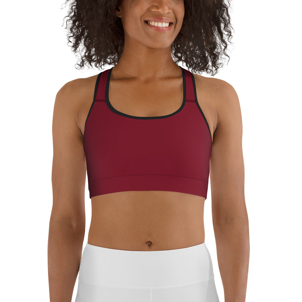 High Impact Sports Bra WINE (6643835699395)