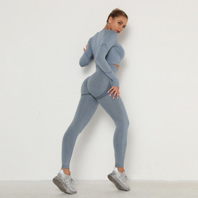 Long Sleeve High Impact Gym Set (6186514645187)