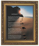 Footprints Prayer - Framed Print