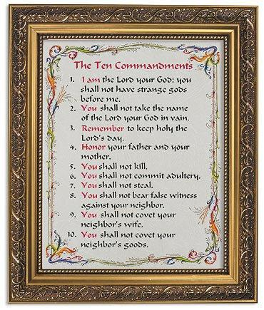 10 Commandments - Framed Print