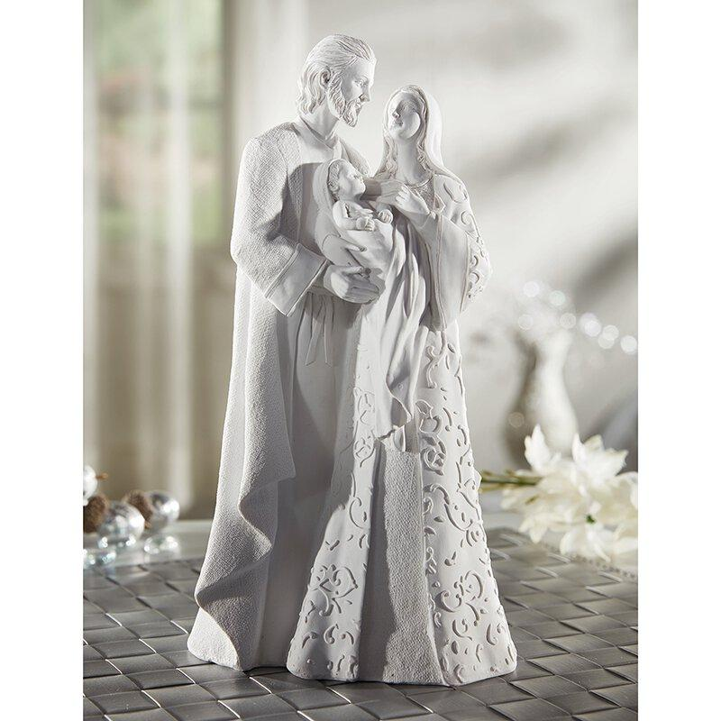 Holy Family Statue White - 10""