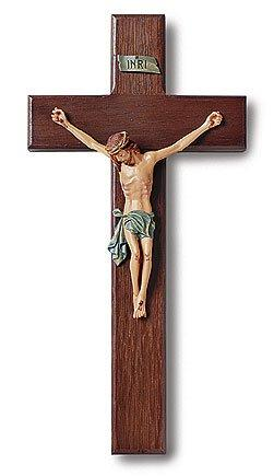"Traditional Wooden Crucifix (Tomaso) - 10"" H"