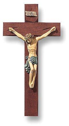 Roma Hand Painted Wooden Crucifix (Tomaso)