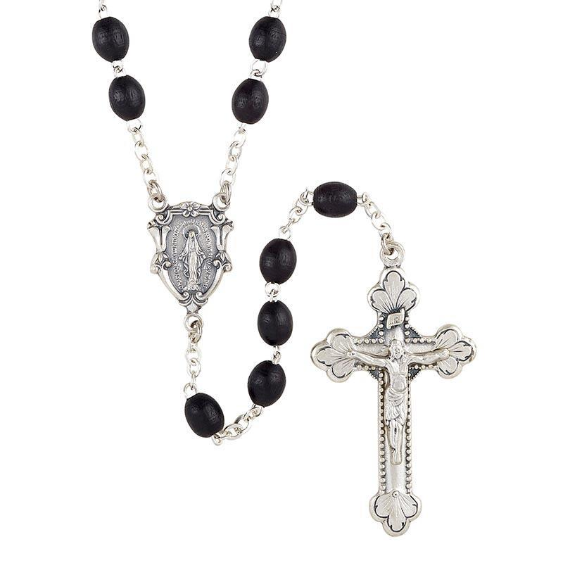 Men's Italian Wooden Rosary (Black)