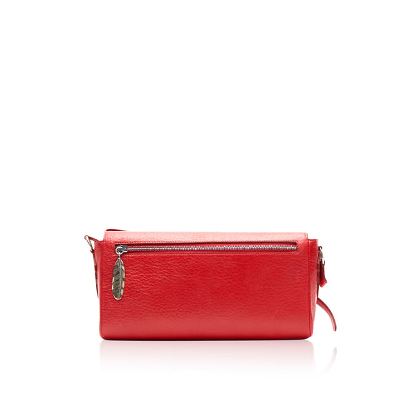 Queen Matilda Red Bison Clutch with Copper Rose