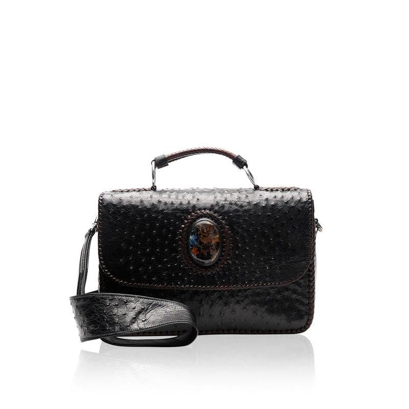 Ostrich and Pietersite Briefcase