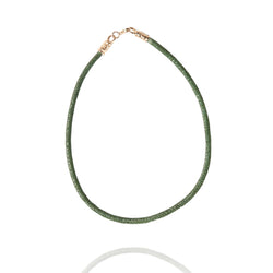 Stingray Leather Necklace Cord 6MM-14K Gold