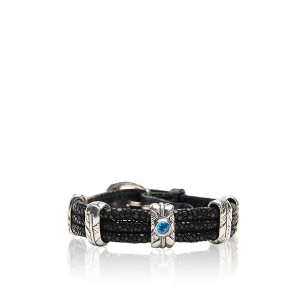 Stingray Tri-Band Bracelet -two .5 carat stones