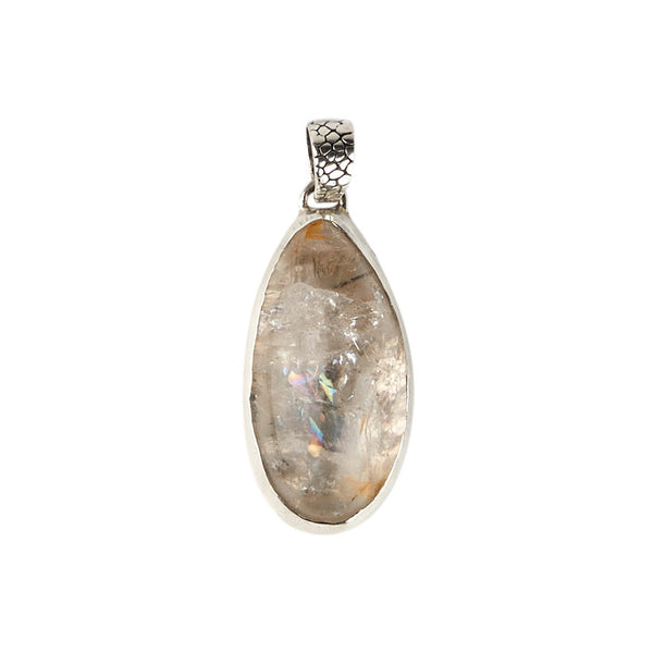Sterling Silver Crystal Quartz Pendant
