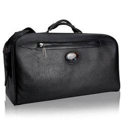 King George Calfskin Duffle Bag with Pietersite Stone