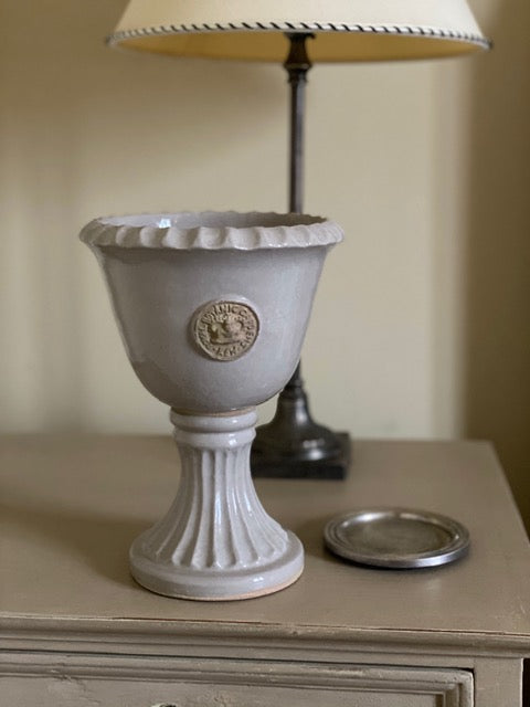 Kew Chalice Vase Distressed White
