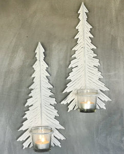 Winter Tree Wall Sconce - Antique White