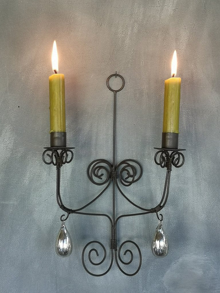 Wire Wall Sconce Rust - 2 candle