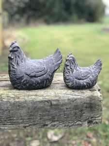 Large Bronze Finish Hen