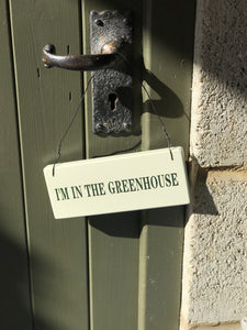 door sign, greenhouse