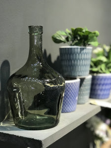 1 Litre Olive Green Recycled Glass Carafe