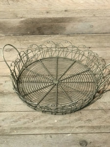 Round Wire Tray Large