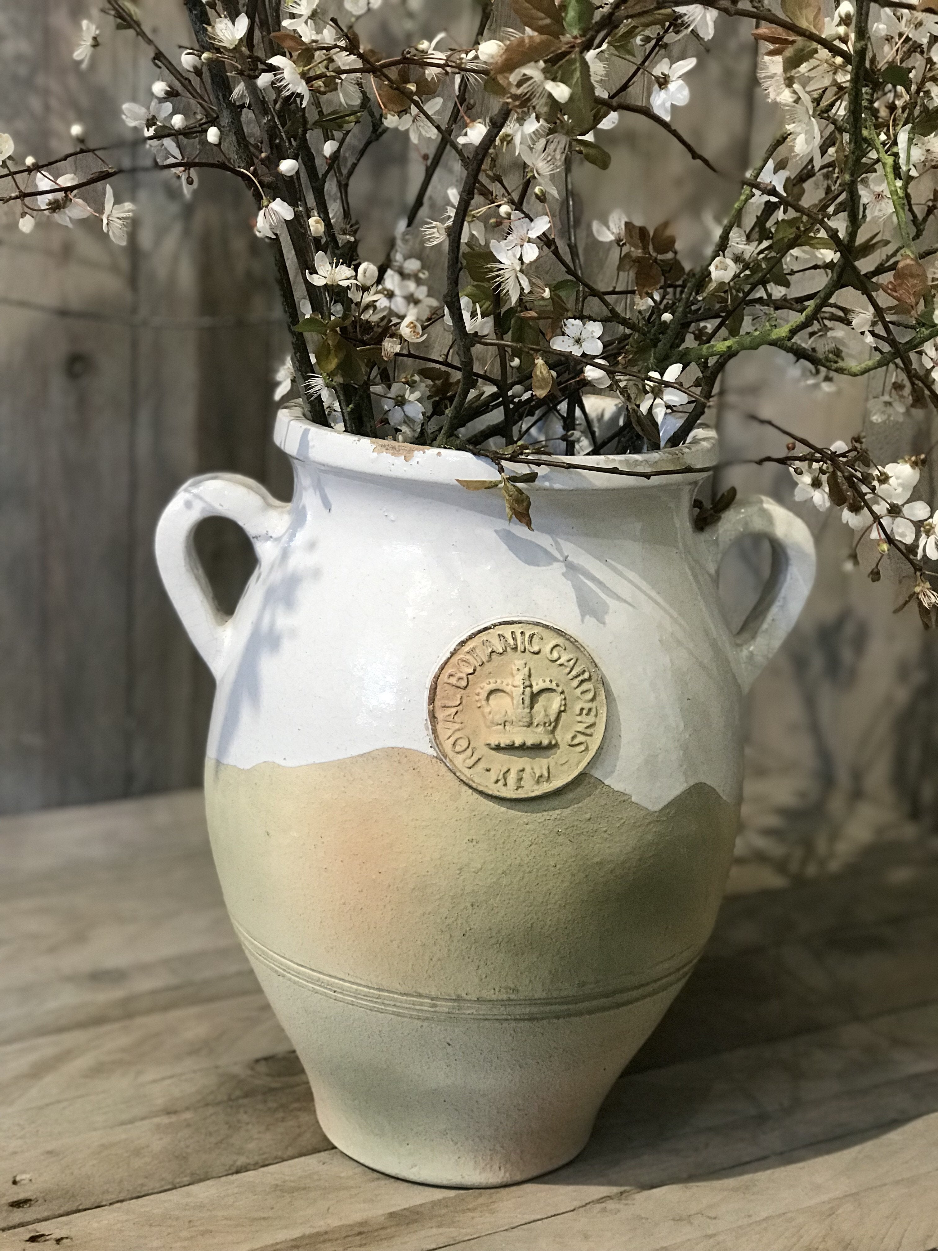 Kew Distressed Tuscan Vase - Bone