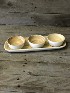 Bamboo Dipping Bowls - white